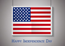 Happy independence day card United States of Royalty Free Stock Photos