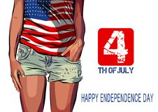 Happy independence day card United States of Royalty Free Stock Photo