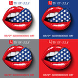 Happy independence day card United States of Royalty Free Stock Image