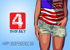 Happy independence day card United States of Stock Photo