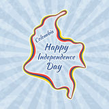Happy Independence Day in Colombia Stock Images