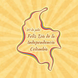Happy Independence Day in Colombia Royalty Free Stock Photo