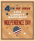 HAPPY INDEPENDENCE DAY FLYER Royalty Free Stock Image