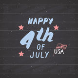 Happy Independence Day, fourth of july, Vintage USA greeting card, United States of America celebration. Hand lettering, american Royalty Free Stock Photo