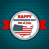 Happy independence day greeting card Royalty Free Stock Photo