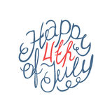 Happy Independence day handlettering element Royalty Free Stock Image