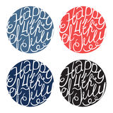 Happy Independence day handlettering elements Royalty Free Stock Photography