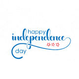 Happy Independence Day handwritten lettering. Fourth of July. Modern vector hand drawn calligraphy with grunge overlay texture over white background for your Royalty Free Stock Photography