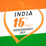 Happy Independence Day India flag light stripes. Indian Independence Day vector concept with text 15th August on the national flag india Royalty Free Stock Photo