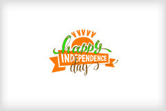 Happy independence day of india. Logo design, holiday label vector illustration Stock Images