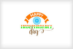 Happy independence day of india. Logo design, holiday label vector illustration Stock Photos