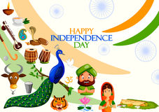 Happy Independence Day of India Royalty Free Stock Photos