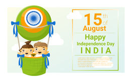Happy independence day India 15th of August Royalty Free Stock Photography