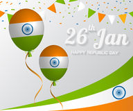 Happy Independence day India, Vector illustration Stock Photography