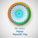 Happy Independence day India, Vector illustration, Flyer design for 26 January. Happy Independence day India, flyer design for 26 January Stock Image