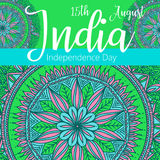 Happy Independence day India, Vector illustration, Flyer design for 15th August Royalty Free Stock Image