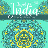 Happy Independence day India, Vector illustration, Flyer design for 15th August vector illustration