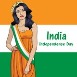 Independence Day of India. 15 th of August 2. Happy Independence day India, Vector illustration, Flyer design for 15th August royalty free illustration