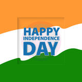 Happy Independence Day india. Vector illustration. greeting card Royalty Free Stock Photos