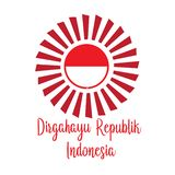 Happy independence day indonesian translation. Flag banner of indonesian happy independence day. - Vector vector illustration