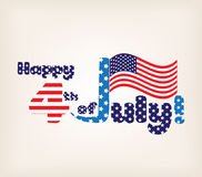Happy Independence Day - July 4th - Fourth of July - American Flag Royalty Free Stock Photography