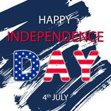 Happy Independence Day, July 4th. Independence Day of the United States. Can be used for 4th july as party invitation, background , backdrop, ad, sale promotion Stock Illustration