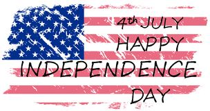 Happy Independence Day, July 4th. Independence Day of the United States. Can be used for 4th july as party invitation, background , backdrop, ad, sale promotion Royalty Free Illustration