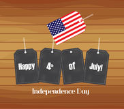 Happy Independence Day - July 4th with stickers Royalty Free Stock Photo