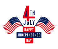 Happy Independence Day - July 4th USA - Memorial Day - Flag Day - Patriotic Stock Image