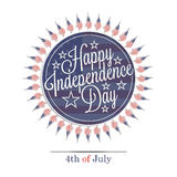 Happy Independence Day lettering Stock Photos