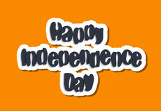 Happy independence day lettering Royalty Free Stock Photo
