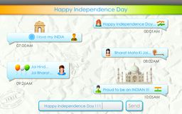 Happy Independence Day message Royalty Free Stock Images