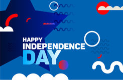 Happy independence day modern background. 4th july vector illustration.n vector illustration