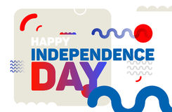 Happy independence day modern background. 4th july vector illustration.n royalty free illustration