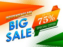 Free Happy Independence Day Of India Tricolor Background For 15 August Big Freedom Sale Promotion Banner Stock Images - 154506234