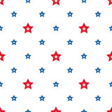 Happy Independence Day seamless pattern vector. Memorial day. 4th of July. Set of American backgrounds. Collection of seamless patterns in traditional red Vector Illustration