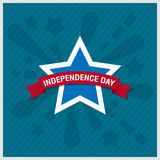 Happy independence day star card with firework, vector eps10 Stock Images