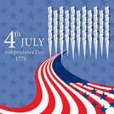 Happy Independence Day with star and flag Royalty Free Stock Photos