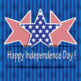 Happy Independence day with stars Royalty Free Stock Image