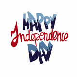 Happy independence day text lettering vector,  independence day palette, paint effect. For printing on cards, web site, holiday decoration Royalty Free Stock Image