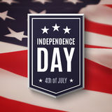 Happy Independence day, 4th of July background. Banner on top of American flag. Vector illustration stock illustration