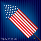 Happy Independence Day!. Happy 4th of July card in  format Royalty Free Stock Image