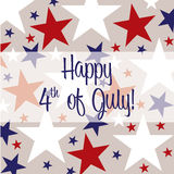 Happy Independence Day!. 4th of July card in vector format Stock Images