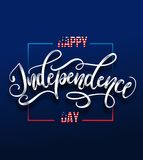 Happy Independence day 4 th july. Greeting card for Independence day of America. Happy independence day of USA , Fourth of July . Vector illustration stock illustration