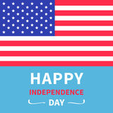 Happy independence day United states of America. Star and strip american flag. 4th of July. Blue background. Flat design. Vector illustration Royalty Free Stock Photos