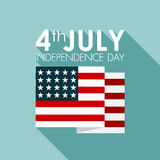 Happy independence day United States of America, 4th of July. 4th of July background, vector eps10 Royalty Free Stock Photos