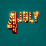 Happy independence day United States of America, 4th of July Royalty Free Stock Photography