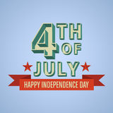Happy independence day United States of America, 4th of July Stock Photo