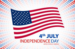 Happy independence day United States of America, 4th of July card with flat design Stock Photos