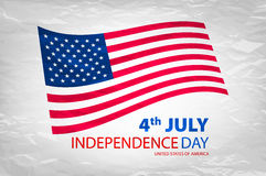 Happy independence day United States of America, 4th of July card with flat design. Art Stock Photos